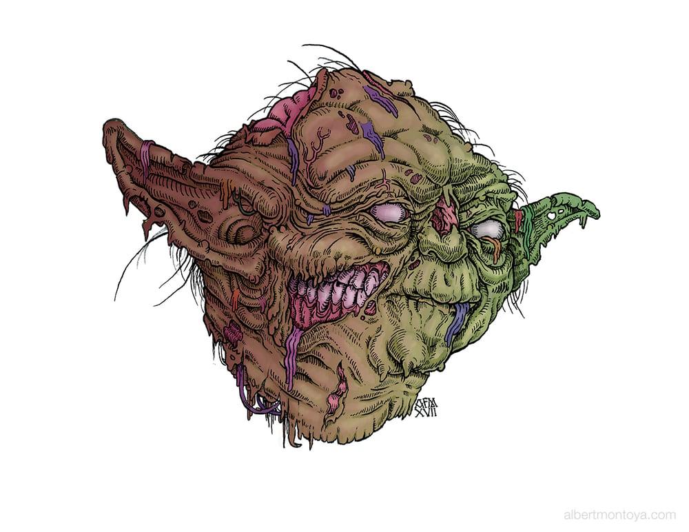 "Image of Print ""Zombie Yoda"""
