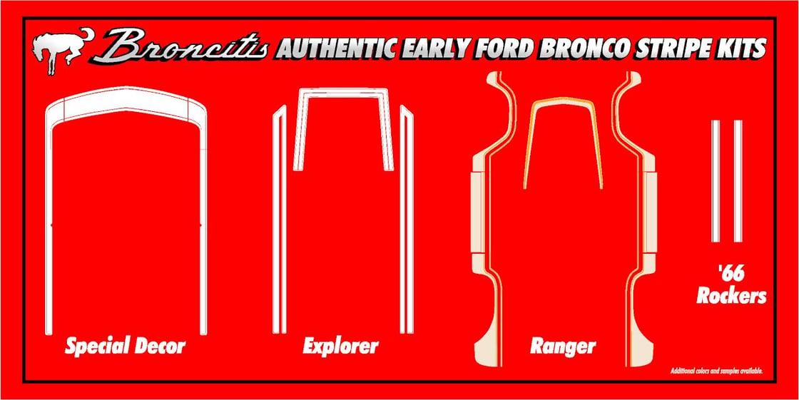 Image of Bronco Explorer Package Stripe Kit