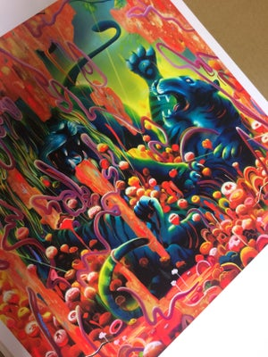 Image of Odins Protector Hand Emellished Print by Michael Page