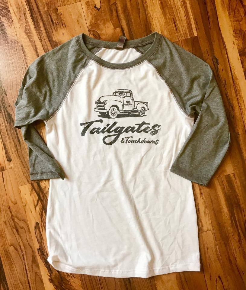 Image of Tailgates and Touchdowns Vintage Ladies Raglan