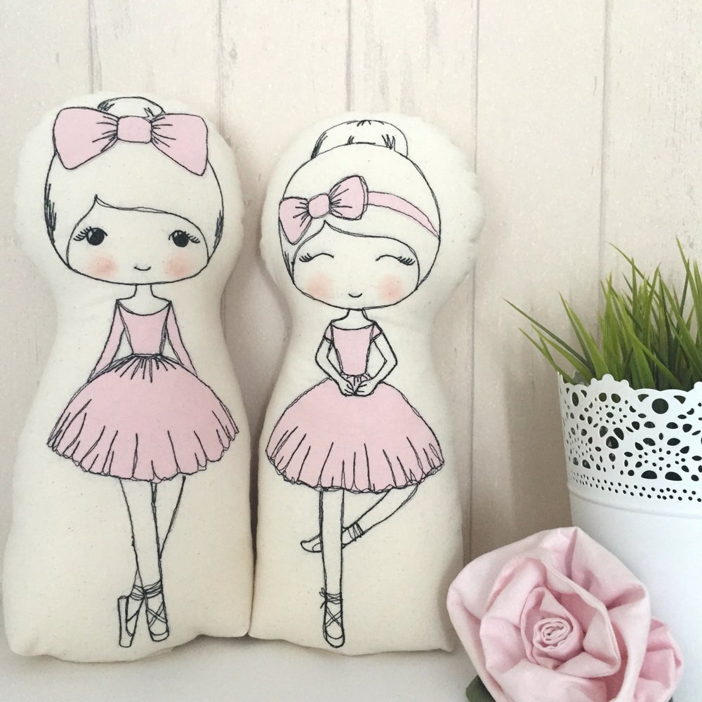 Image of pattern to make Ballerina dolls