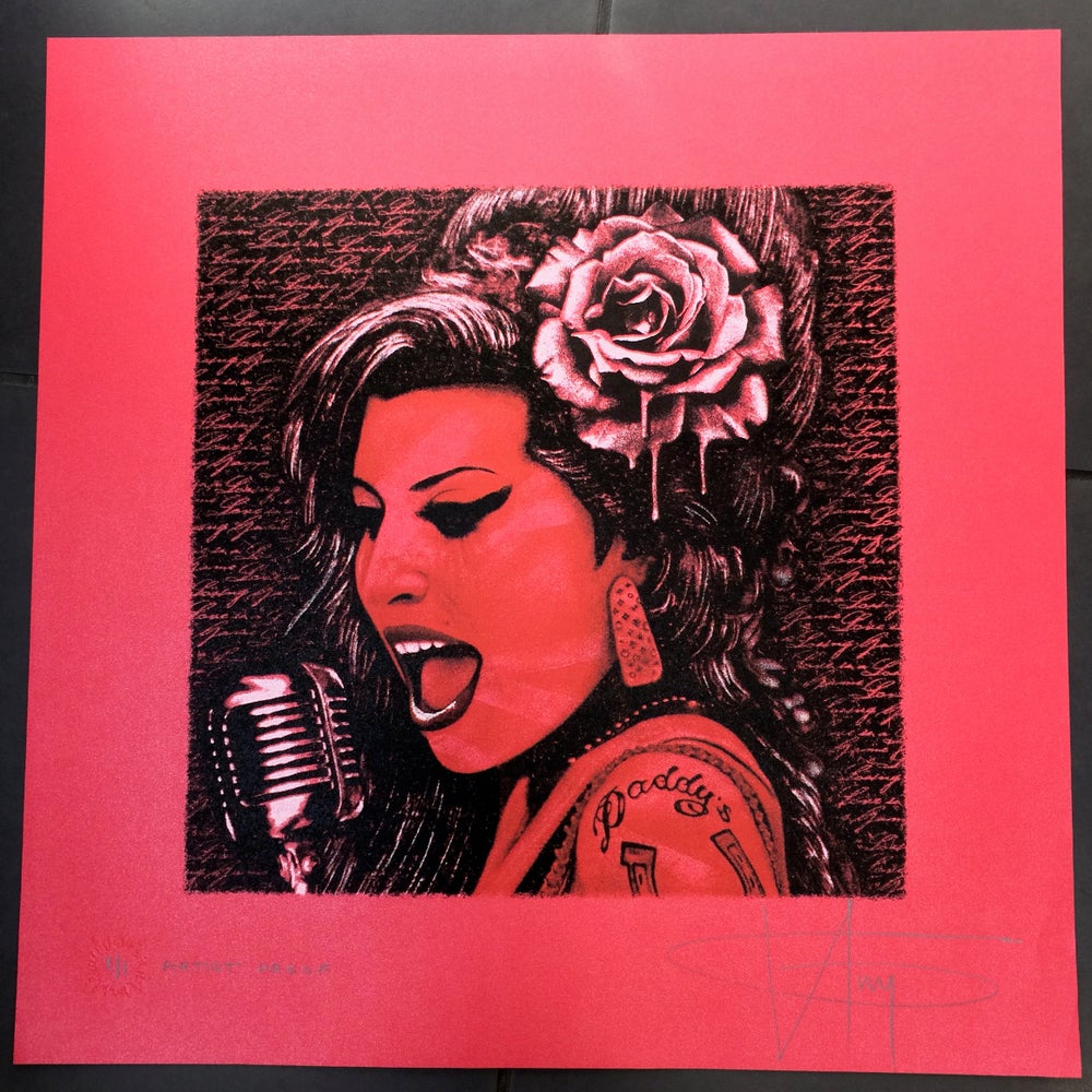 Image of AMY WINEHOUSE - UNIQUE 1/1 ARTIST PROOF