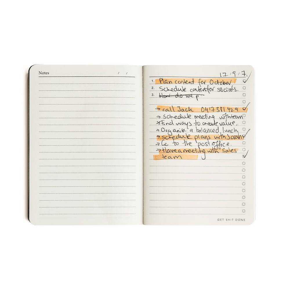 Image of Get Shit Done notebook (blue or coral)