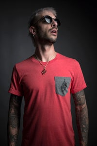 "Image of ""Machete Empire"" Tshirt red"