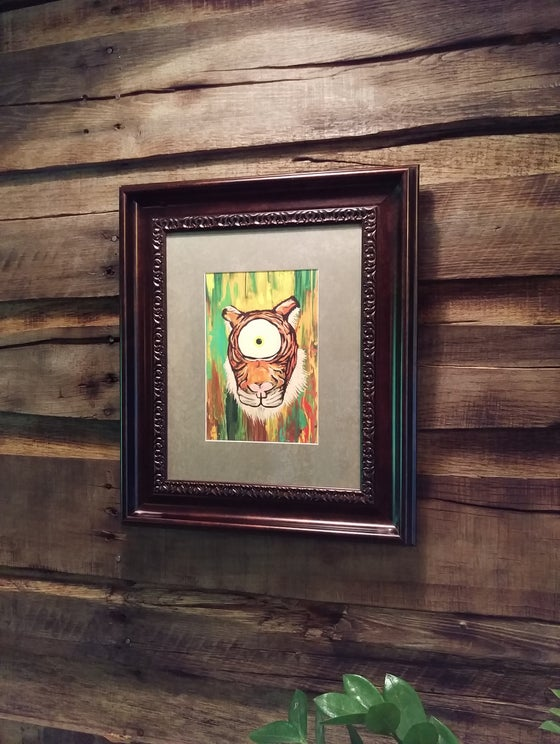 "Image of ""Eye Of The Tiger"" Framed Giclée Print"