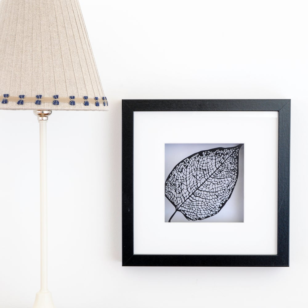 Image of Framed Paper Cut Leaf