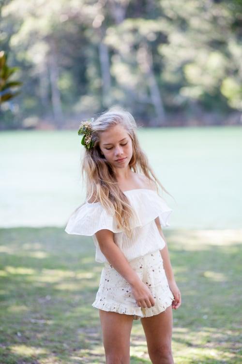 Image of Bonita Shorts - Linen Cream Floral