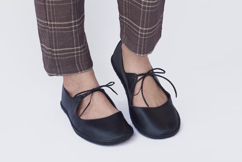 Image of Passion Ballet flats in Matte black