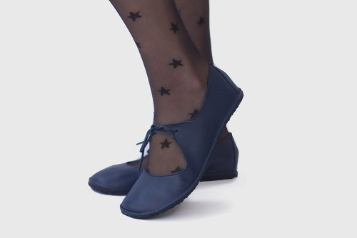 Image of Passion ballet flats in Navy blue