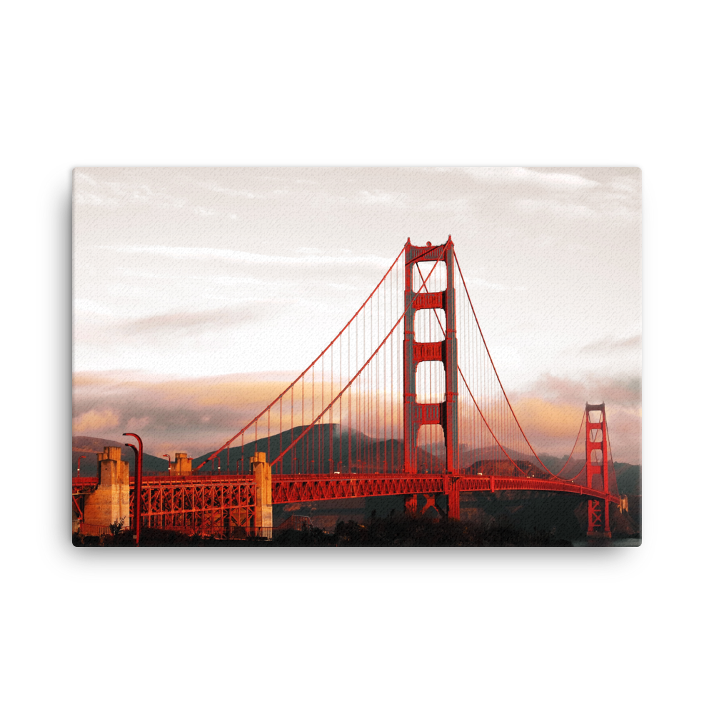 "Image of Golden Gate Bridge Canvas 24"" by 36"""