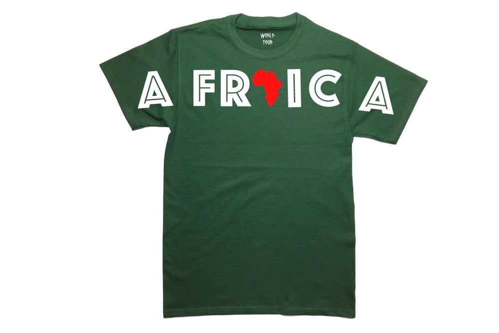 """Image of World Tour """"Africa"""" T-shirt Forrest Green"""