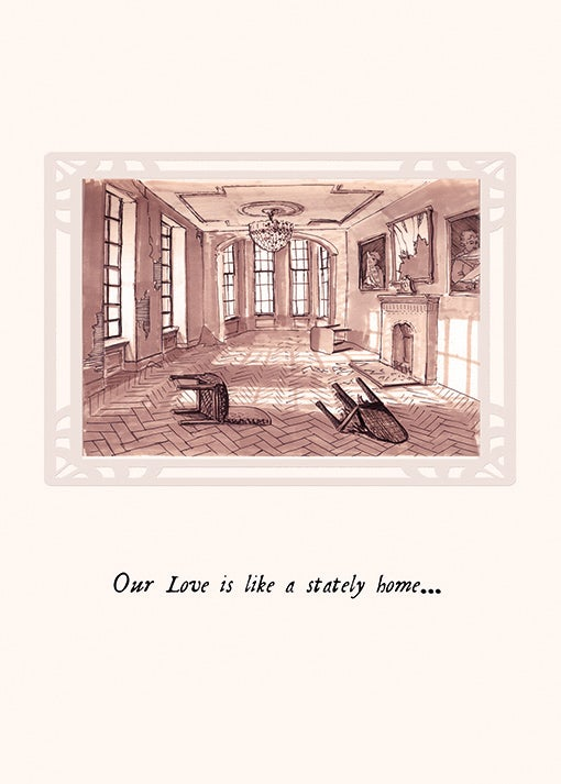 Image of Our Love greetings card
