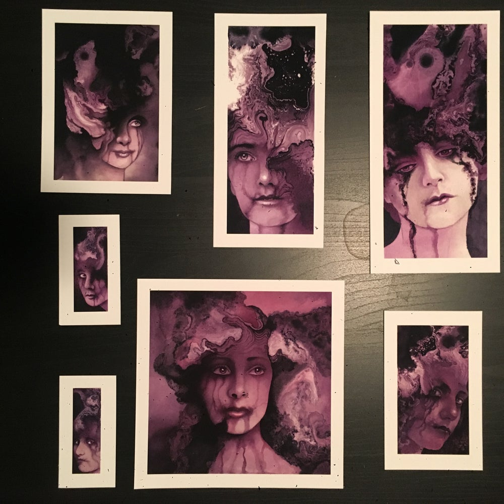 Image of Lavender Lady print set