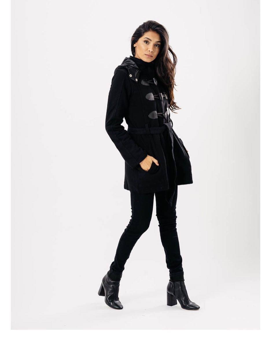 Image of Black toggle jacket