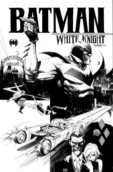 Image of Batman: White Knight #1 Variant (B&W Cover, Signed)