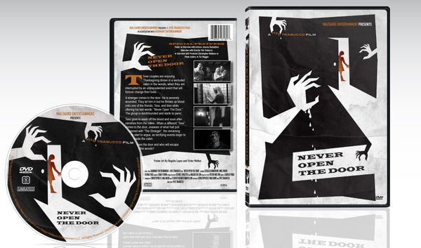 Image of Never Open The Door DVD (With Exclusive Movie Still signed by Lead Actress Jessica Sonneborn)
