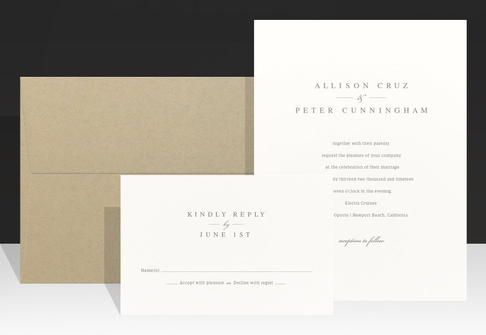 Image of Modern Wedding Invitation - Allison