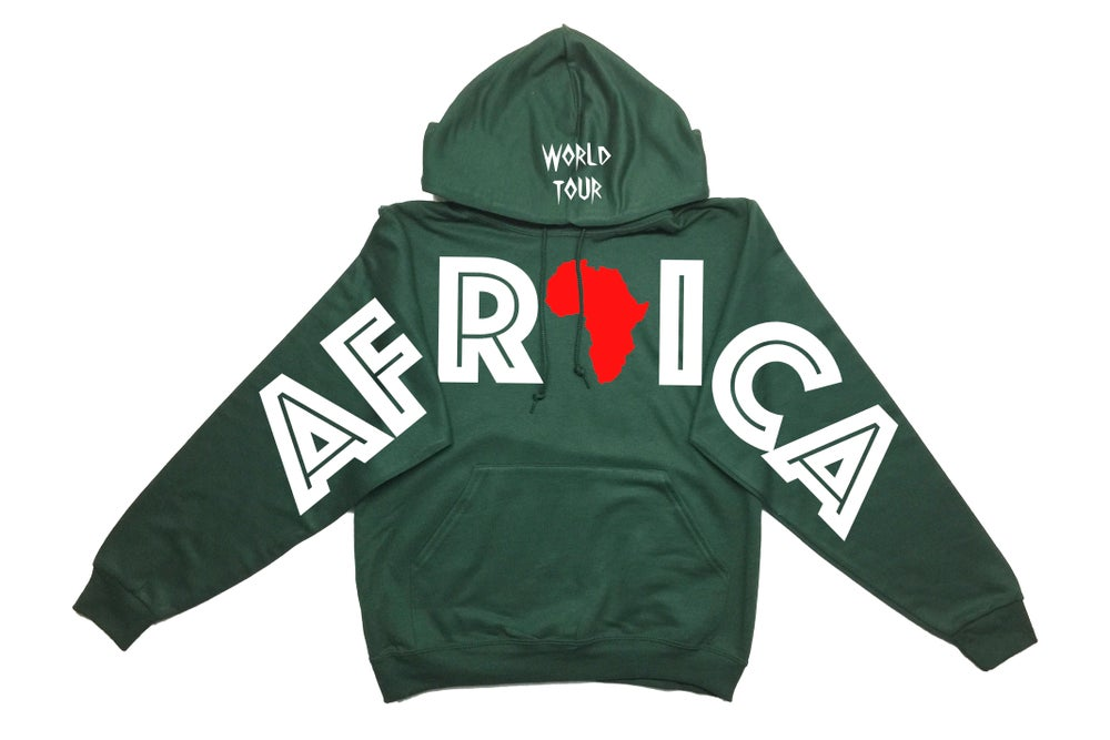 """Image of World Tour """"Africa"""" Hoodie Forrest Green"""