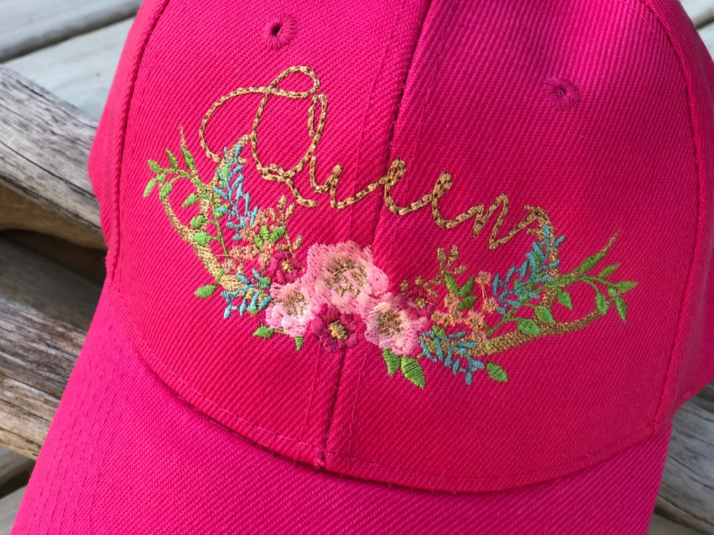 Image of Boho Antlers Queen Cap in Fuchsia