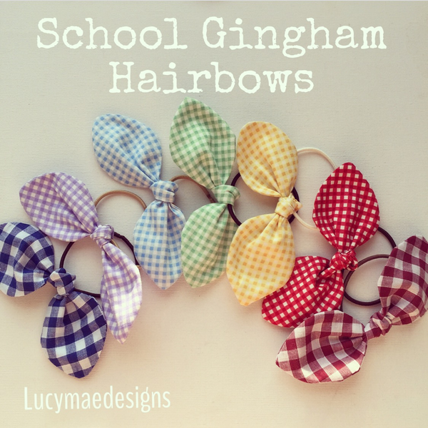 Image of School Gingham Hairbows