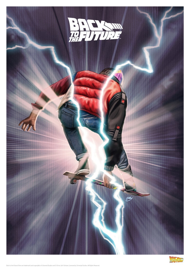 Image of Back to the Future boarding (officially licensed print)