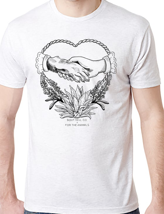 Image of ****SOLD OUT******FOR THE ANIMALS- HURRICANE HARVEY RELIEF white shirt