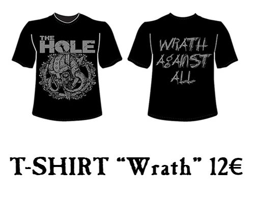 """Image of """"WRATH AGAINST ALL"""" T-SHIRT (man & girl models available)"""