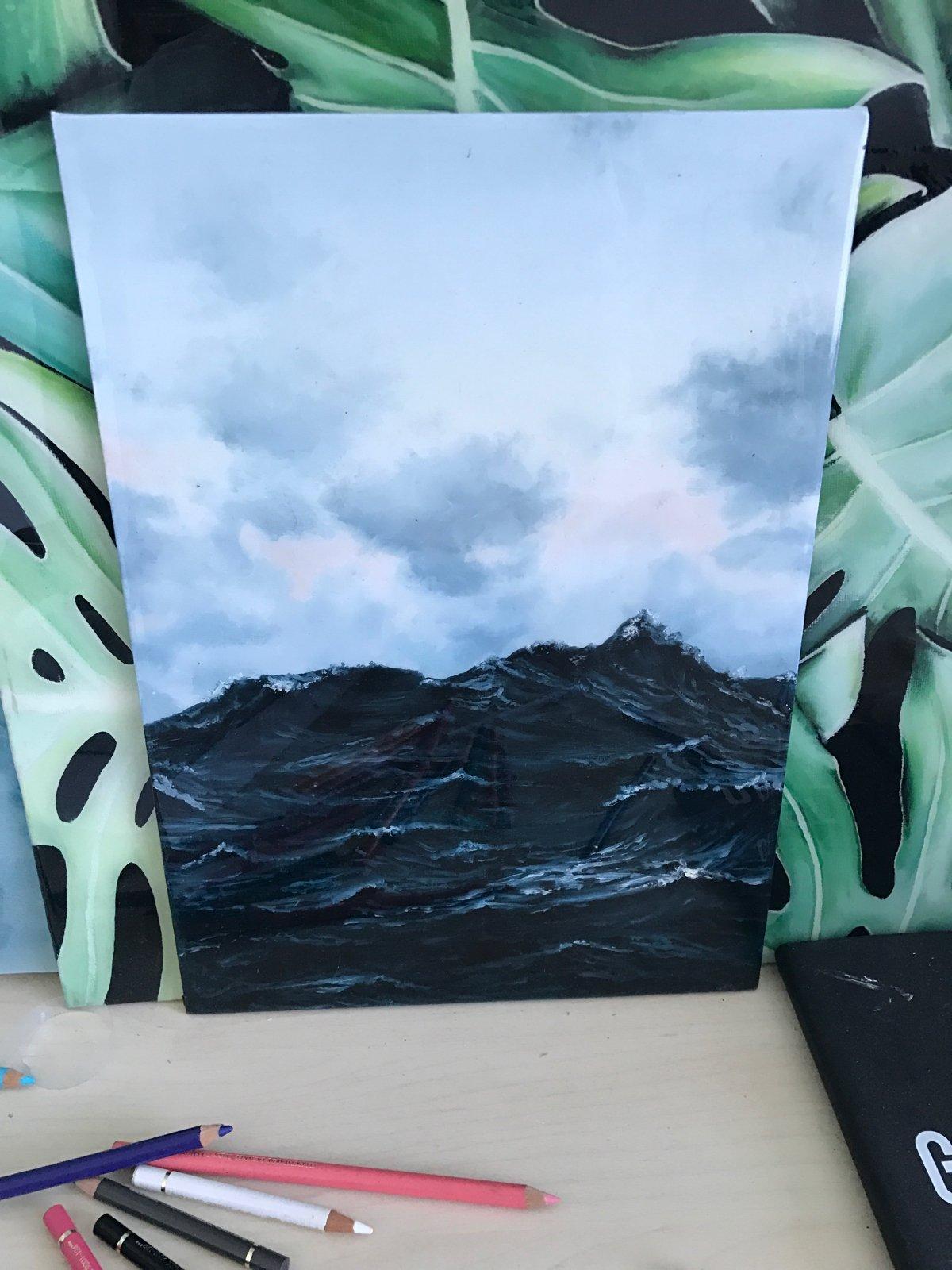 Image of ORIGINAL stormy sea