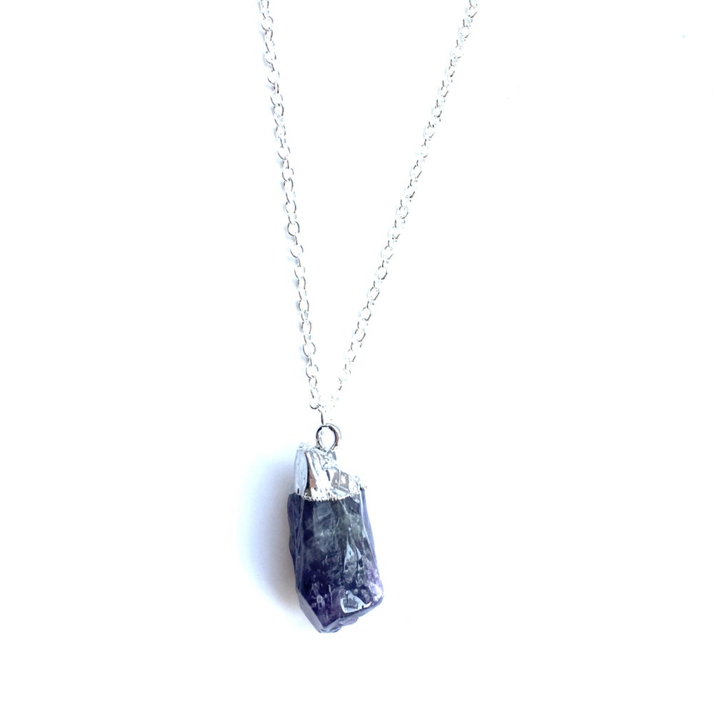 Image of Amethyst cluster necklace