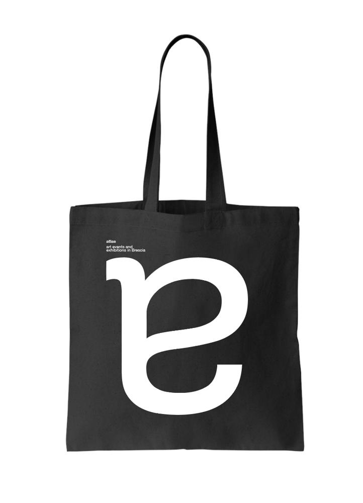 Image of atlas black shopping bag