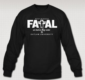 Image of Hussein Fatal realest crewneck -COMES IN BLACK AND GRAY-CLICK HERE TO SEE ALL COLORS