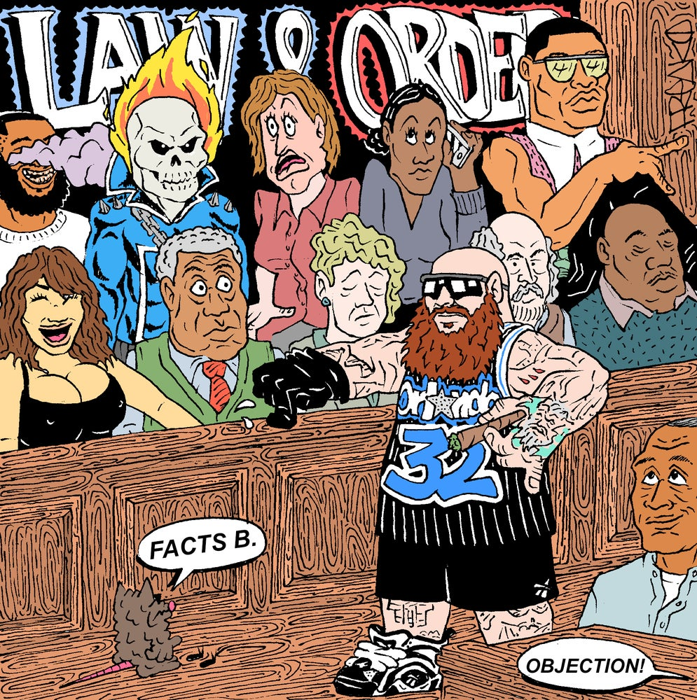 "Image of ""ADDRESS THE JURY IN A SHAQ JERSEY (BLACK ONE)"" PRINT"
