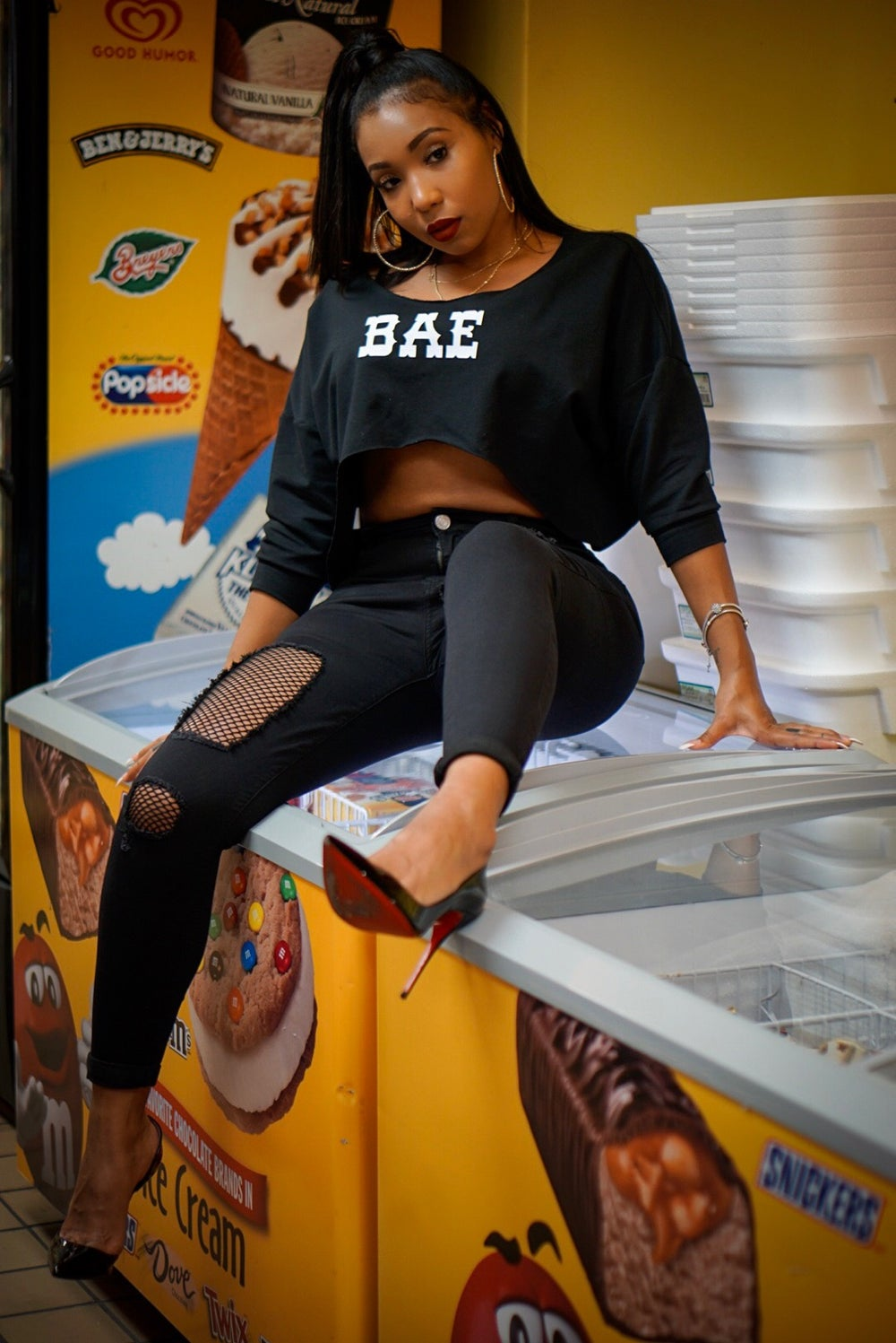 Image of Bae Crop Top Sweater