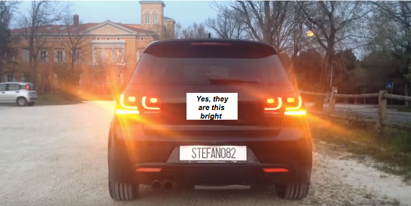 Image of Euro & OEM Taillight Rear Turn Signal- Amber No Error fits: Golf GTI Mk6 / Golf R