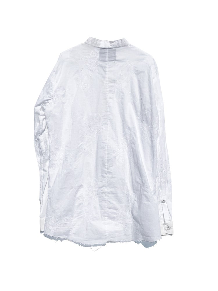 Image of A Red August limited release capsule collection: cotton priest collar shirt