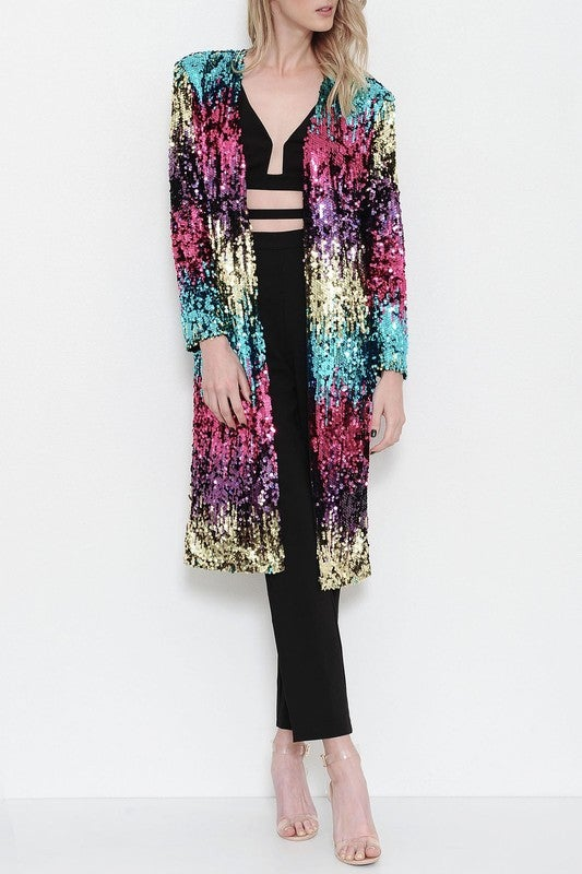 Image of Sparkle and Shine Mid-Length Blazer