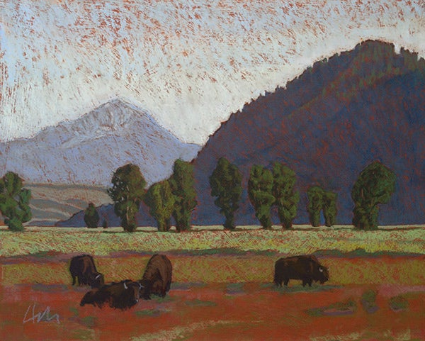 Image of Bison and Butte (Sold)