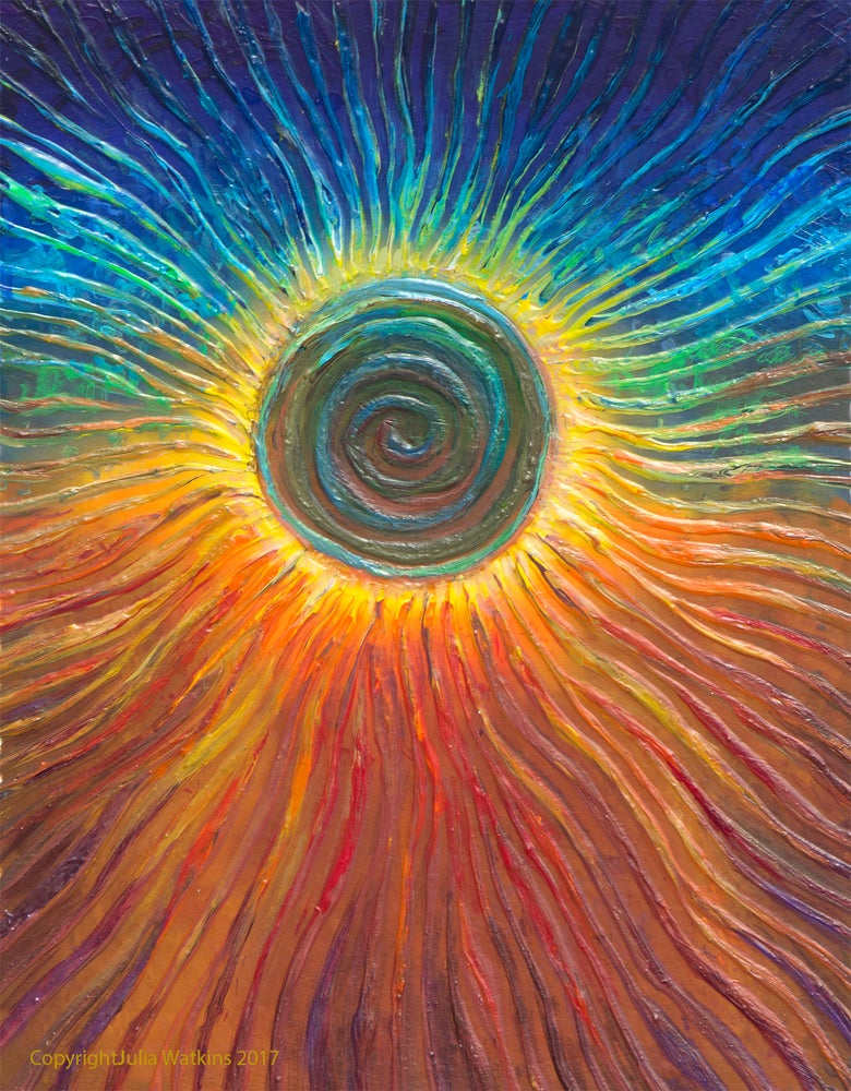 Image of Eclipse Energy Painting - Giclee Print
