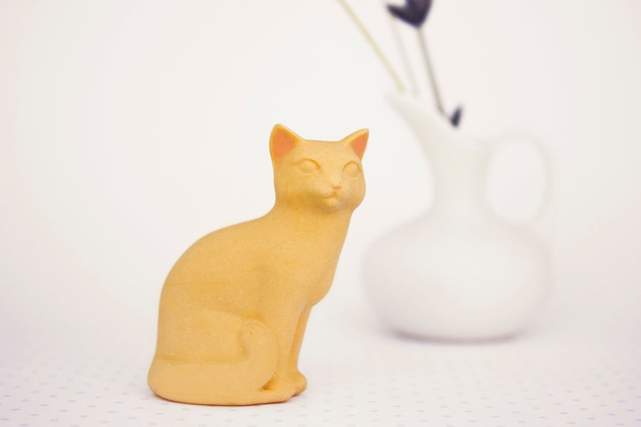 Image of Orange Tabby Cat Figurine