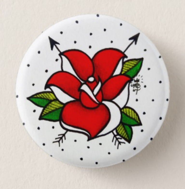 Image of anarchy rose button