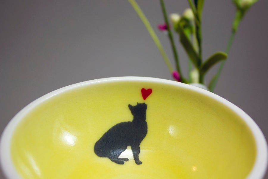Image of Shadow Ring Bowl for Cat Lover