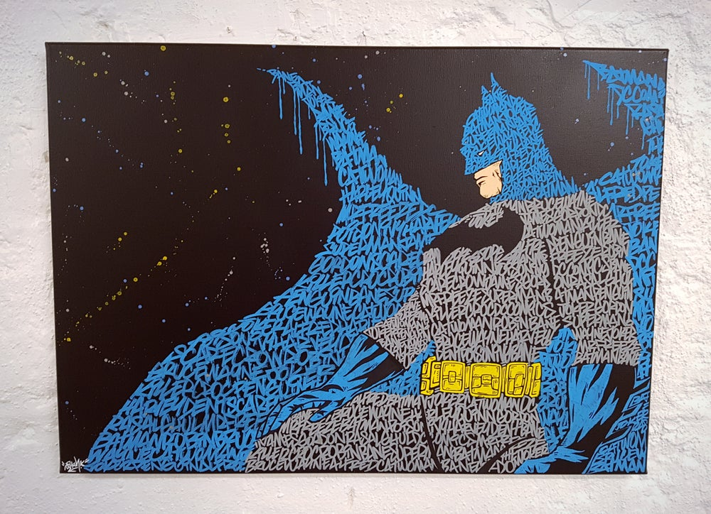 Image of Batman Graffiti canvas