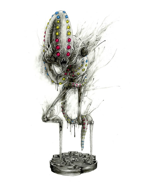 Image of Alex Pardee 'GAELFOS' original art