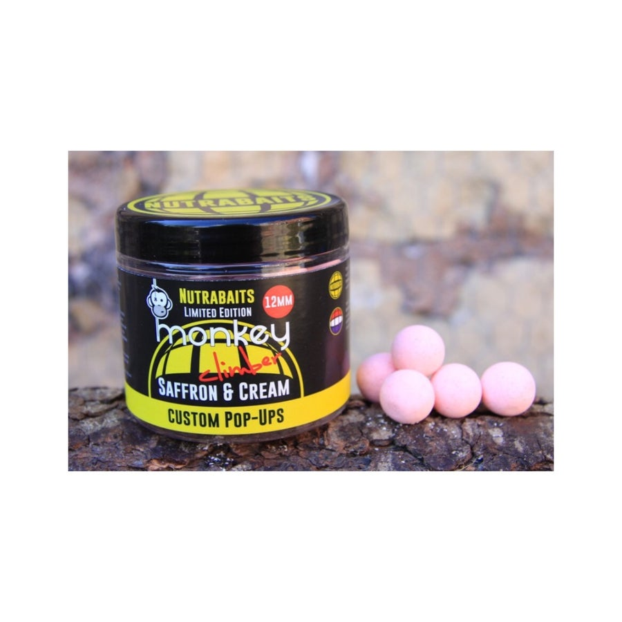 Image of Monkey Climber X Nutrabaits Ltd. Edition Saffron & Cream / Liver Supreme pop ups
