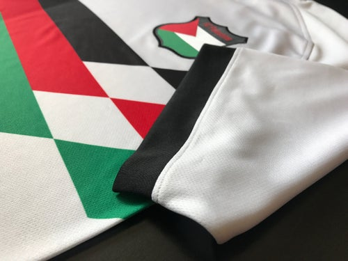 Image of Palestine White Retro Football Shirt (New Season)