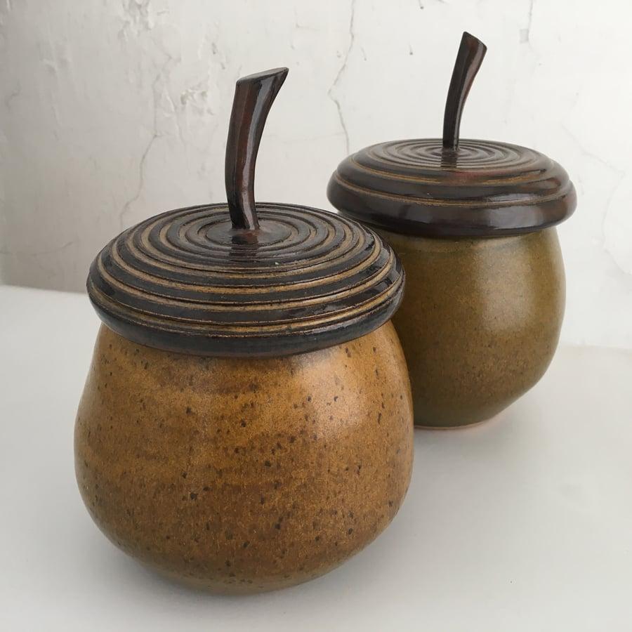 Image of Acorn Shaped Jars, each