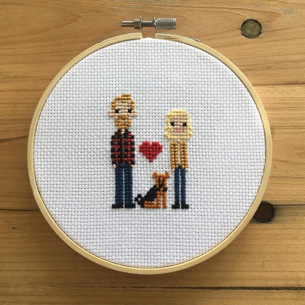 Image of Customized Cross-Stitch