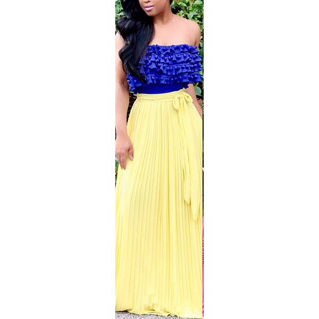 Image of Pleated Maxi Skirt