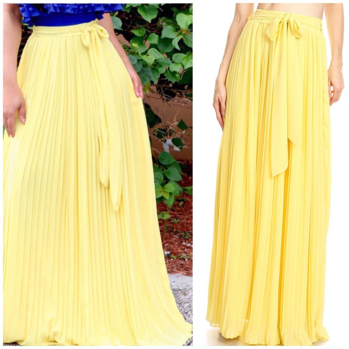 Image of Pleated Maxi Skirt