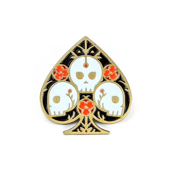Image of Ace of Spades Soft Enamel Pin